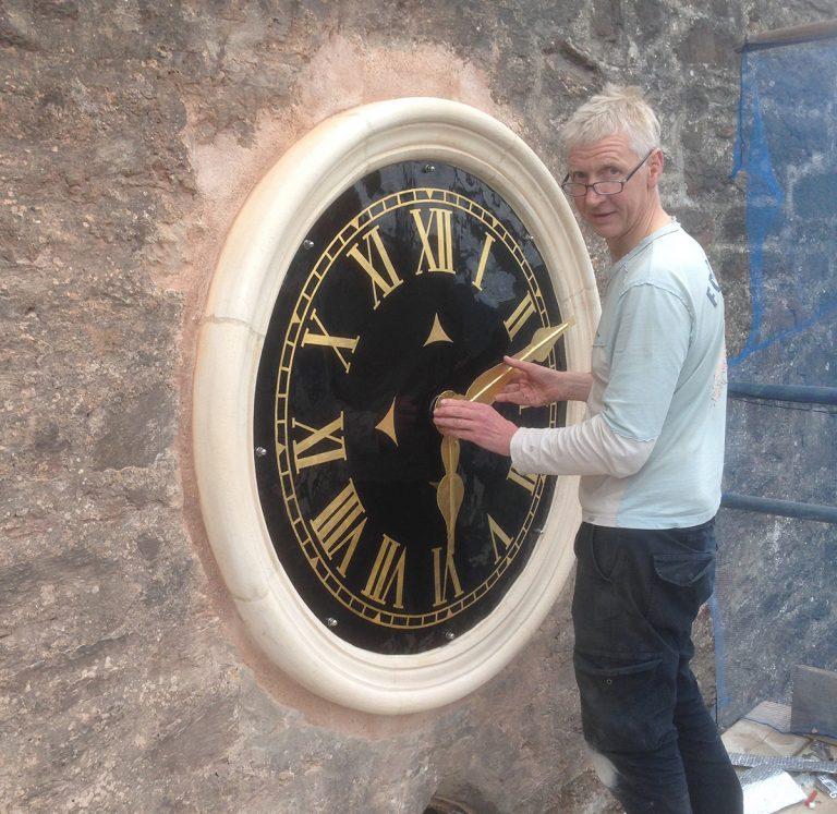 Turret clock post title